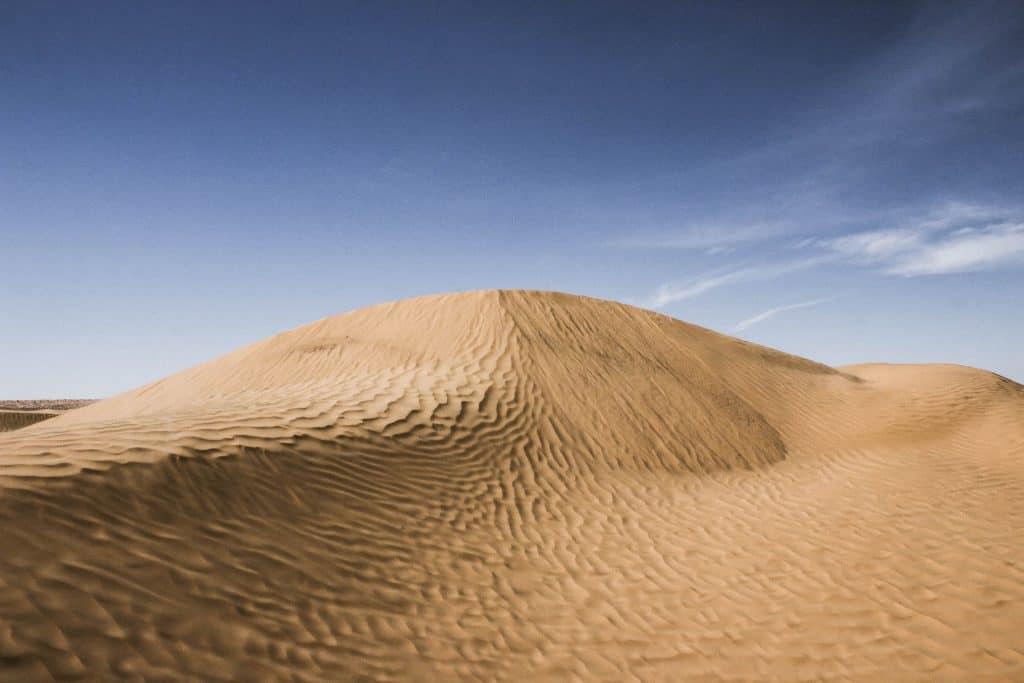 poušť v Tunisku