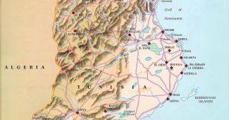 Tunisko mapa a informace kde leží