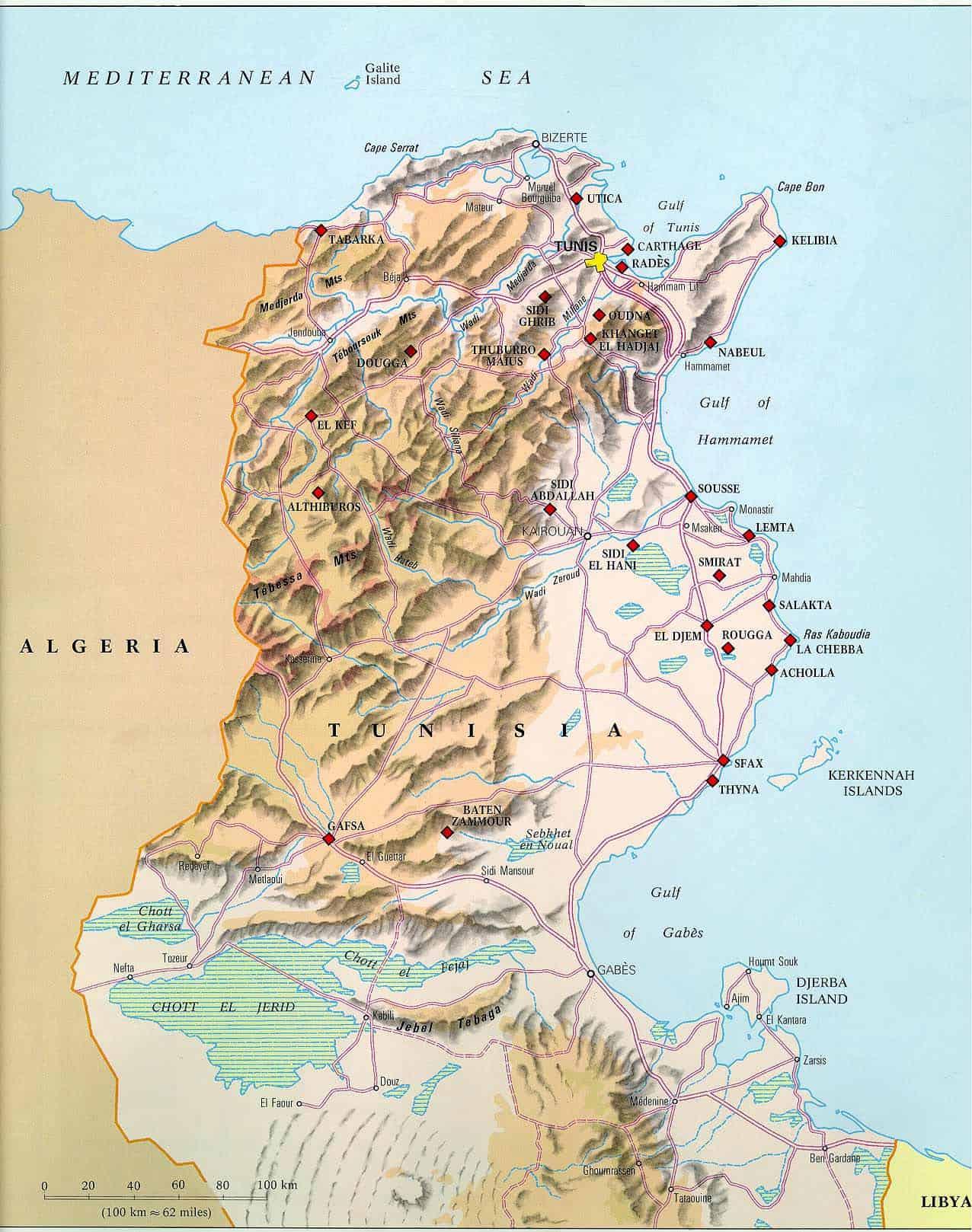 Kde Lezi Tunisko A Mapa Tuniska Tunis Informace